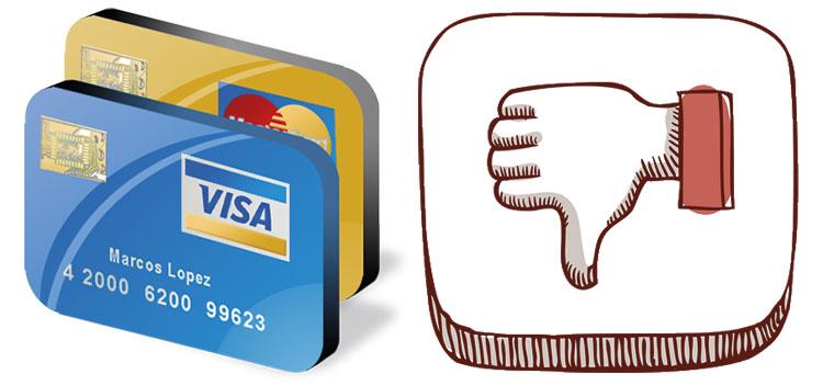 desventajas de las tarjetas de crédito