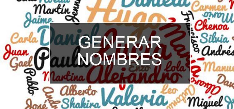 Generador de nombres de personas
